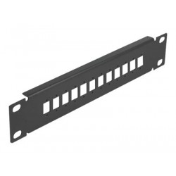 """Delock - Patch panel (záslepný) - černá - 1U - 10"""" - 12 portů"""