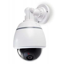 NEDIS atrapa bezpečnostní kamery s blikající LED dome IP44 venkovní bílá