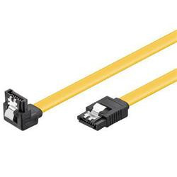 PremiumCord 1.0m SATA 3.0 datový kabel  1.5GBs / 3GBs / 6GBs, kov.západka, 90°