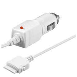PremiumCord iPod/iPhone napájecí/nabíjecí adaptér do auta 12V. bílá