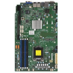 SUPERMICRO MB 1xLGA1151 (Xeon E3-21xx,i3), C246, 4xDDR4, 6xSATA3, 2xM.2, 2xPCIe3.0 (x16 x4), VGA, 2x LAN,IPMI