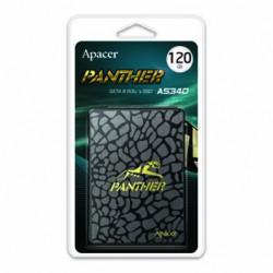 Interní disk SSD Apacer 2.5, SATA III, 120GB, AS340, AP120GAS340G-1 černý, 500 MB/s,550 MB/s, Panther