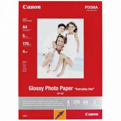 Canon Glossy Photo Paper, foto papír, lesklý, GP-501 typ bílý, 21x29,7cm, A4, 200 g m2, 5 ks, 0775B076, inkoustový