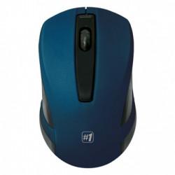 Defender Myš MM-605, 1200DPI, 2.4 [GHz], optická, 3tl., 1 kolečko, bezdrátová, modrá, 2 ks AAA, nanopřijímač