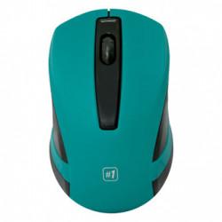 Defender Myš MM-605, 1200DPI, 2.4 [GHz], optická, 3tl., 1 kolečko, bezdrátová, tyrkysová, 2 ks AAA, nanopřijímač
