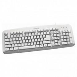 LOGO Standard, Klávesnice CZ SK, klasická, drátová (USB), bílá