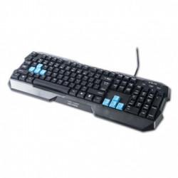 E-BLUE Polygon, Klávesnice US, herní, odolná proti polití typ drátová (USB), černá