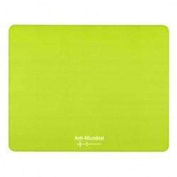 Podložka pod myš, Polyprolylen, zelená, 24x19cm, 0.4mm, Logo, antimikrobiální