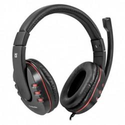 Defender Warhead G-160, herní sluchátka s mikrofonem, ovládání hlasitosti, černá, 2x 3.5 mm jack