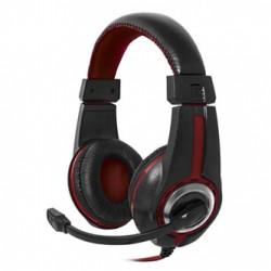 Defender Warhead G-185, herní sluchátka s mikrofonem, ovládání hlasitosti, černo-červená, 2x 3.5 mm jack