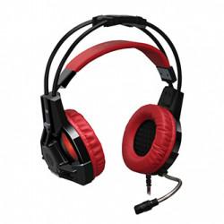 Defender Lester, herní sluchátka s mikrofonem, ovládání hlasitosti, černo-červená, 2.0, 50 mm měniče typ 2x 3.5 mm jack + USB