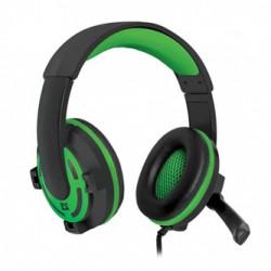 Defender Warhead G-300, sluchátka s mikrofonem, ovládání hlasitosti, černo-zelená, herní sluchátka, 2x 3.5 mm jack