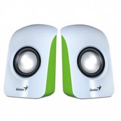 Genius reproduktory SP-U115, 2.0, 3W, bílo-zelené, regulace hlasitosti, stolní, 200Hz-18kHz