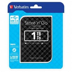 Verbatim externí pevný disk, Store N Go, 2.5, USB 3.0 (3.2 Gen 1), 1TB, 53194, černý