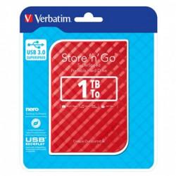Verbatim externí pevný disk, Store N Go, 2.5, USB 3.0 (3.2 Gen 1), 1TB, 53203, červený