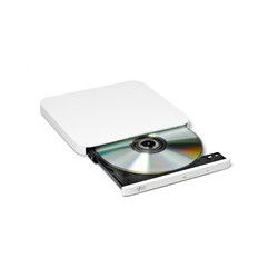 HITACHI LG - externí mechanika DVD-W/CD-RW/DVD±R/±RW/RAM/M-DISC GP90NW70, Ultra Slim, White, box+SW