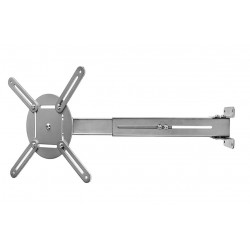 NEDIS nástěnný držák pro projektor nostnost 10 kg otáčení 360° 4 ramena šedý