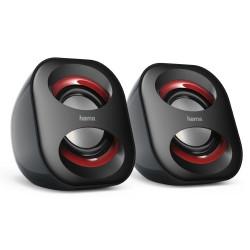 HAMA reproduktory k notebooku a PC Sonic Mobil 183 2.0 3W 3,5 mm jack USB černo-červené