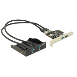 """Delock 3.5"""" přední panel s 2x USB 3.0 porty + PCI Express 2x USB 3.0"""