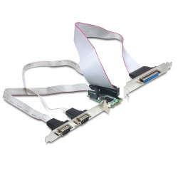 Delock MiniPCIe I O PCIe full size 2 x seriový RS-232, 1 x paralelní