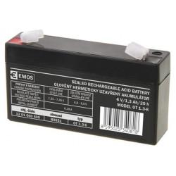 Emos baterie SLA 6V 1.3 Ah, Faston 4.8 (187)