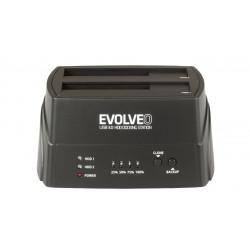 EVOLVEO HDD dokovací stanice, USB 3.0 , 1x HDD do 4TB nebo 2x HDD do 3TB