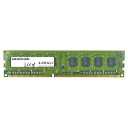 2-Power 2GB MultiSpeed 1066 1333 1600 MHz DDR3 Non-ECC DIMM 1Rx8 ( DOŽIVOTNÍ ZÁRUKA )