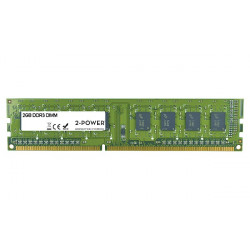 2-Power 2GB PC3-10600U 1333MHz DDR3 CL9 Non-ECC DIMM 2Rx8 ( DOŽIVOTNÍ ZÁRUKA )