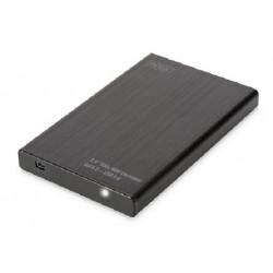 Digitus Externí Hliníkové Pouzdro 2,5 SSD HDD, SATA III USB 2.0
