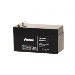 akumulátor FUKAWA FW 1,2-12 U (12V; 1,2Ah; faston 4,7mm; životnost 5let; 43mm)