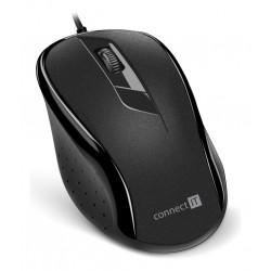 CONNECT IT Optická myš, ergonomická, USB, černá