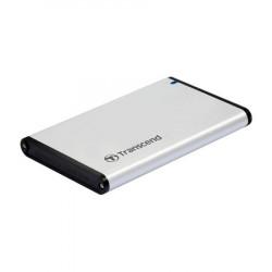 """Transcend StoreJet 25S3 externí rámeček pro 2.5"""" HDD SSD, SATA III, USB 3.0, celohliníkový, stříbrný"""
