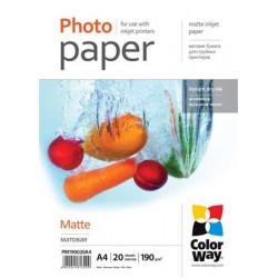 COLORWAY fotopapír matte 190g m2, A4 20 kusů