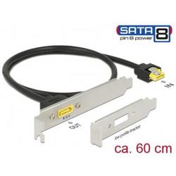 Delock Záslepka do slotu SATA 6 Gb s samice interní > SATA samec s pin 8 napájení externí 60 cm