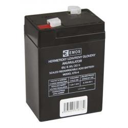 Emos baterie SLA 6V 4 Ah, Faston 4.8 (187), VRLA