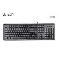 A4tech KR-92, klávesnice, CZ US, USB, voděodolná, černá