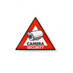 Nedis STCKWC105 - Výstražná Samolepka | Symbol Bezpečnostní Kamery | Sada 5 kusů