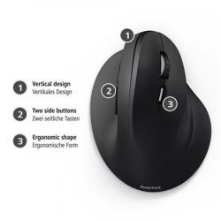 Hama vertikální, ergonomická kabelová myš EMC-500, 6 tlačítek, černá