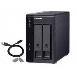 """QNAP 2-bay 3.5"""" SATA HDD USB 3.1 Gen2 10Gbps type-C hardware RAID external enclosure. USB-C to USB-A cable included. Expansion uni"""