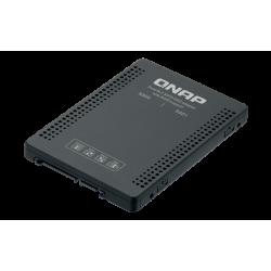 "QNAP adaptér QDA-A2MAR (2x M.2 SSD SATA sloty v 2,5"" SATA rámečku)"