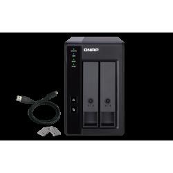QNAP TR-002 rozšiřovací jednotka pro PC či QNAP NAS (2x SATA 1x USB 3.1 typu C - Gen 2)
