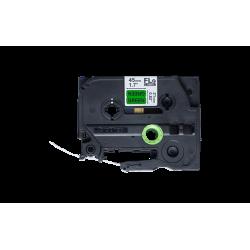 FLe-7511, předřezané štítky - černá na zelené, šířka 21 mm