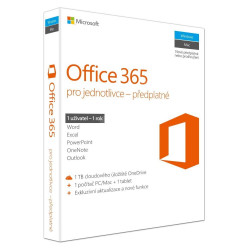Microsoft Office 365 Personal All Lng - předplatné 1 rok ESD multilanguage - elektronická licence