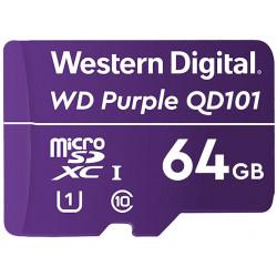 WD PURPLE 64GB MicroSDXC QD101 / WDD064G1P0C / CL10 / U1 /