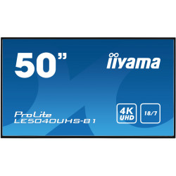 "50"" iiyama LE5040UHS-B1 - AMVA3,4K UHD,8ms,350cd / m2, 4000:1,16:9,VGA,HDMI,DVI,USB,RS232,RJ45,repro."