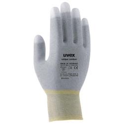 UVEX Rukavice Unipur carbon vel. 10 citlivé antist. pro přesné práce s elektronickými součástkami dlaň a prsty pokryt