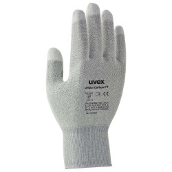 UVEX Rukavice Unipur carbon FT vel. 9 citlivé antist. pro přesné práce s elektronickými součástkami prsty pokryté uhl