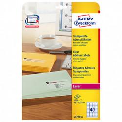Avery Zweckform etikety 45.7mm x 25.4mm, A4, bílé, 40 etiket, adresní, baleno po 25 ks, pro laserové tiskárny