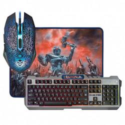 Defender Killing Storm MKP-013L, Sada klávesnice s herní myší a herní podložkou, US, herní, membránová typ drátová (USB), černá, p