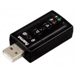 HAMA zvuková karta externí 7.1 surround USB 2x 3,5 mm jack černá